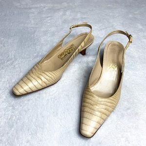 Ferragamo Slingback Kitten Heels